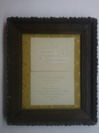 1888 Wedding Announcement-Louis Amiet-Hotel Amiet
