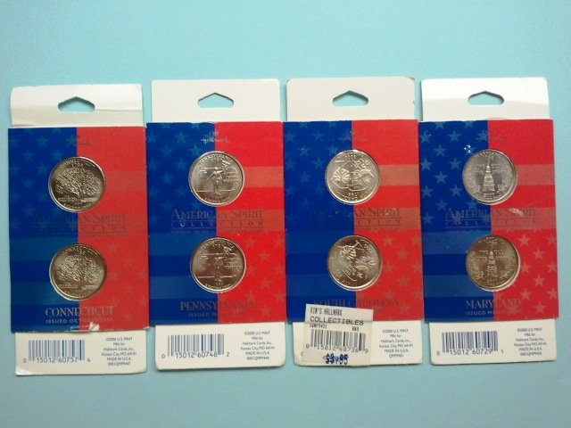 Set of 1999 and 2000 State Quarters (4 in all)