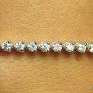 Genuine 4ct DIAMOND Tennis Bracelet 14K White Gold G I1