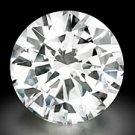 GIA CERT. 1/2 CT Round Brilliant Loose Diamond SI1 F