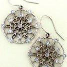 14K WG 1ct DIAMOND Chandalier Earrings Round SI1