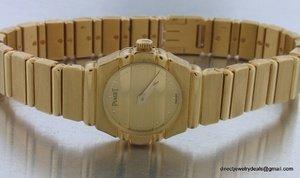 Genuine 18K Gold PIAGET Polo Wrist Watch Wristwatch