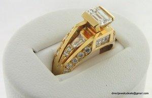 Genuine 2 ct Diamond Engagement Ring 18K Gold VS1