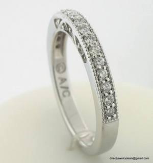 Genuine 1/2 Carat DIAMOND Eternity Ring 14K Gold G SI1