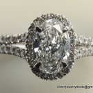 GIA Cert. Genuine 1 ct Diamond Engagement Ring E/S1 18K