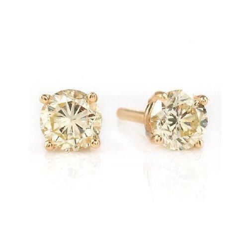 BEST DEAL-1/3 ct Diamond Stud 14k Yellow Gold Earrings