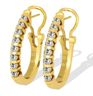 1.00 ctw Diamond Earrings 14k Gold SE325 G SI-1