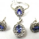Glamorous 3.75 ctw Tanzanite & Diamond 14k Gold Set