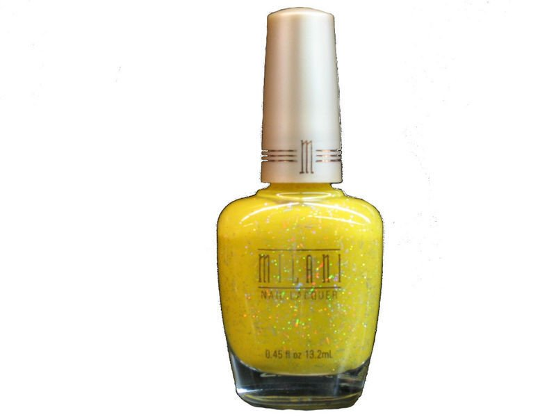 MILANI NAIL POLISH LACQUER #143 Vivid in Yellow - RARE