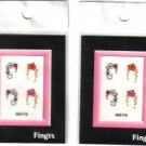 2 Packs FINGRS NAIL ART STICK ON CRYSTAL DESIGNS - 8 stickers - Nail Decoration