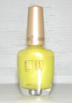 MILANI NAIL POLISH LACQUER #83 NEON LITES - Yellow Green Neon Shimmer - RARE