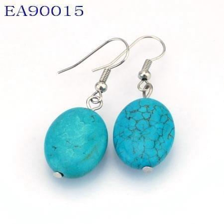 No:15 Genuine Handmade Silver Turquoise Earring