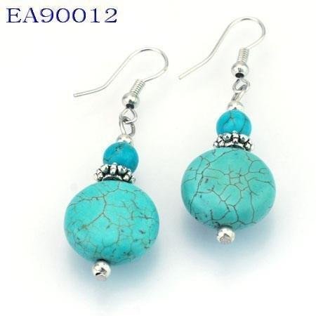 No:12 Genuine Handmade Silver Turquoise Earring
