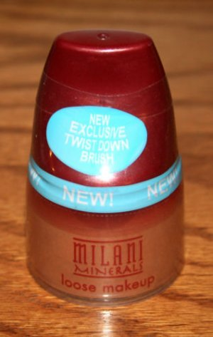 MILANI MINERALS LOOSE MAKEUP #10 DEEP  with Twist Down Brush