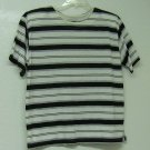 SEPARATE ISSUE Black & White Stripe KNIT SHORT SLEEVE TOP Large