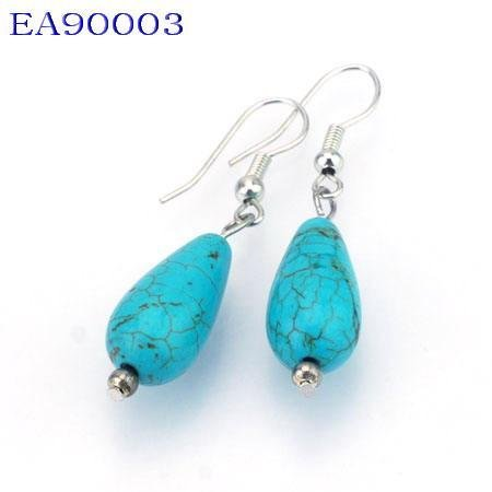 No:3 Genuine Handmade Silver Turquoise Earring