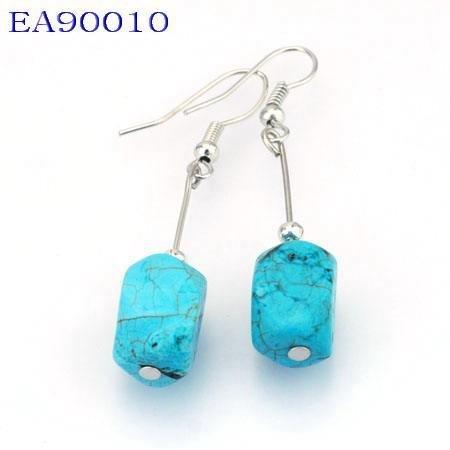 No:10 Genuine Handmade Silver Turquoise Earring
