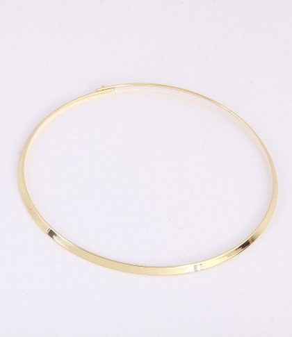 Most Beautiful 17 inch Gold Plated Omega Choker Style Chain