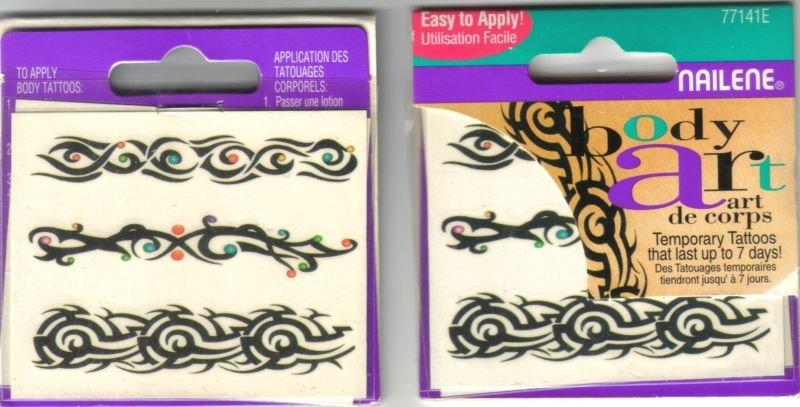 8 PACKS - NAILENE TEMPORARY TATTOOS - Body Art # 77141E