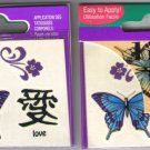 6 PACKS - NAILENE TEMPORARY TATTOOS - Body Art # 77142E