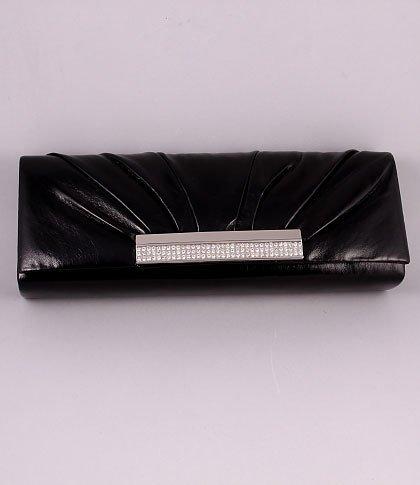 High End Quality Black Evening Clutch Bag Austrian Rhinestones Crystal