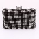 Black High Quality Clutch Evening Bag Austrian Crystal Rhinestone on Both Sides