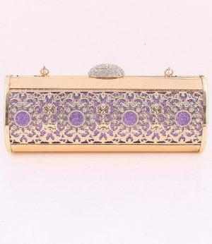 Filigree High End Quality Purple Evening Bag-Austrian Rhinestones Crystal