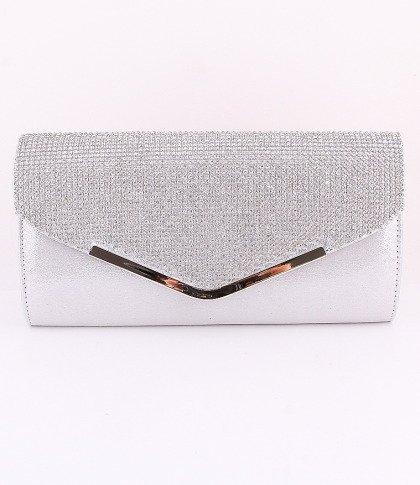 High Quality Clutch Silver Bag Genuine Austrian Crystal Rhinestone