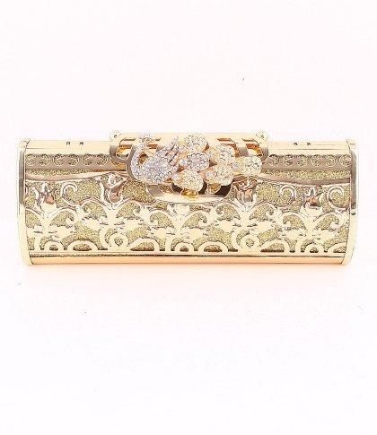 Peacock Filigree High Quality Gold Evening Bag-Austrian Rhinestones Crystal