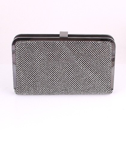 Black - Top Quality Evening Bag Both Sides Austrian Crystal Rhinestone