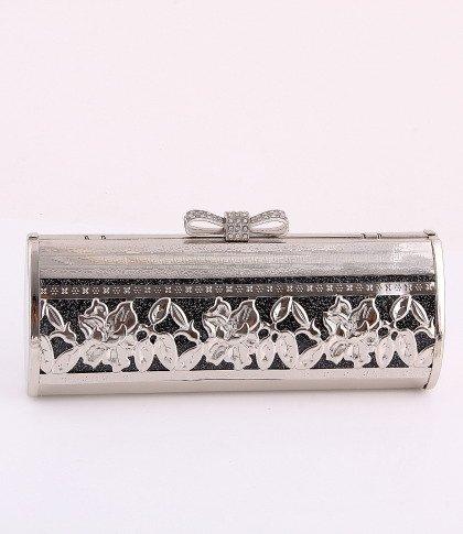 Enchanting High End Quality Black Evening Bag-Austrian Rhinestones Crystal