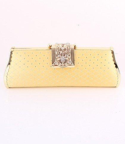 Filigree Evening Bag-Metal Frame-Austrian Crystal-Gold