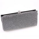 High End Quality Clutch Black Bag Genuine Austrian Crystal Rhinestone
