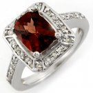 Certified-2.40ct Pink Tourmaline & Diamond Ring 14K Gold-Retail $2,210.00