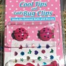Lot of 2 - Fing'rs Cool Tips and Lady Bug Clips - # 2078