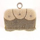 High End Quality Fancy Clutch Bag with Stones & Pearl - Choice of 2 colors