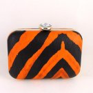 High End Quality Faux Leather Clutch Bag w/ Jewelry Stone-Choice of 2 colors