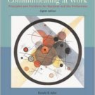 Communicating at Work 8th Ed. by Ronald B Adler 0072977507