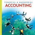 Financial & Managerial Accounting 9th by Carl S. Warren 0324401884