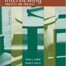 Interviewing: Principles and Practices 11th by Charles Stewart 0072987766