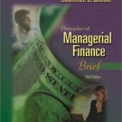 Principles of Managerial Finance 3rd by Lawrence J. Gitman 0201784807