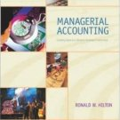 Managerial Accounting 6th by Hilton 0072936932