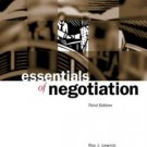 Essentials of Negotiation 3rd by Roy J. Lewicki 0072545828