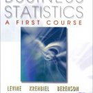 Business Statistics: A First Course 3rd by David M. M. Levine 0130348279