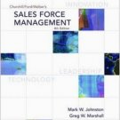 Sales Force Management 8th by Mark W. Johnston 007296183X