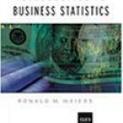 Introduction to Business Statistics 4th by Ronald M. M. Weiers 0534385702