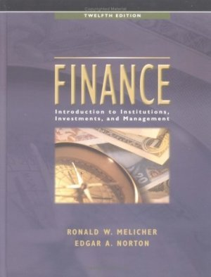 Finance Introduction to Institutions Investments and Management 12th by Melicher 0471675792