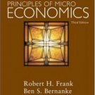 Principles of Microeconomics 3rd by Ben Bernanke 007323060X
