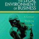 The Legal Environment Of Business 4th by Nancy K. Kubasek 0131498568