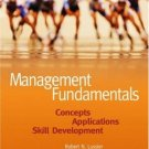 Management Fundamentals: Concepts, Applications, Skill Development 3rd by Lussier 0324226063